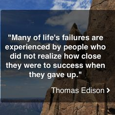 Edison Success Quote