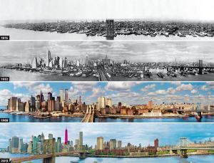 New York Skyline 1876-2013